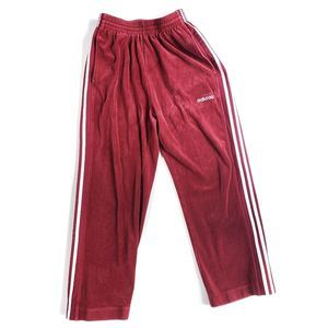 Adidas Womens Track Pants Red White M